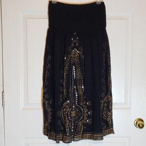 Strapless Boho Style Dress